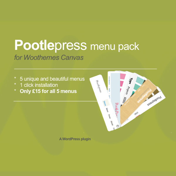 pootlepress menu pack for woothemes canvas