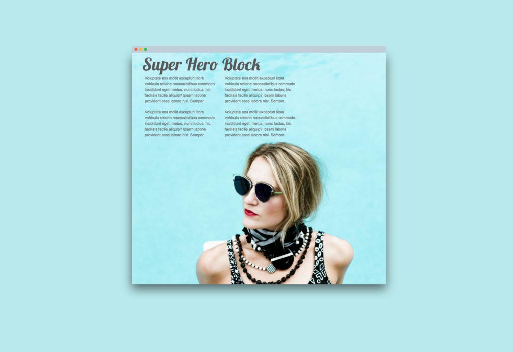website super hero block
