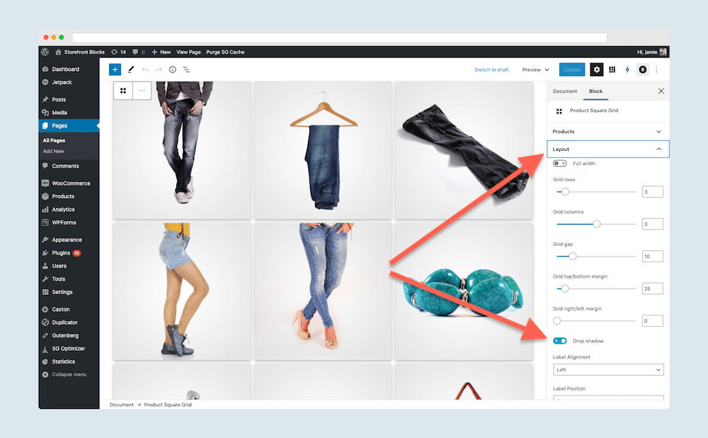 WooCommerce Product Filters, WooCommerce Product Pagination, and three new WooCommerce Blocks all included in Storefront Blocks version 2.5 7