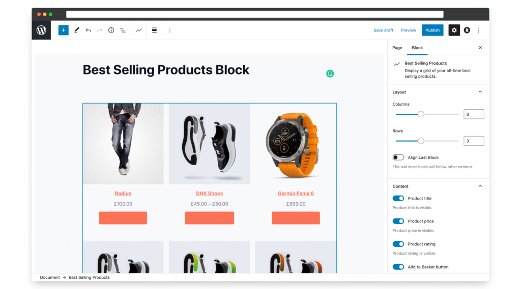 Best Selling Products Block