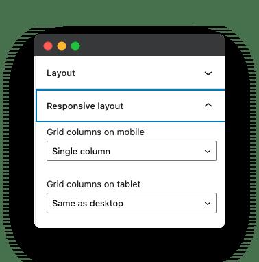 mobile controls for gutenberg