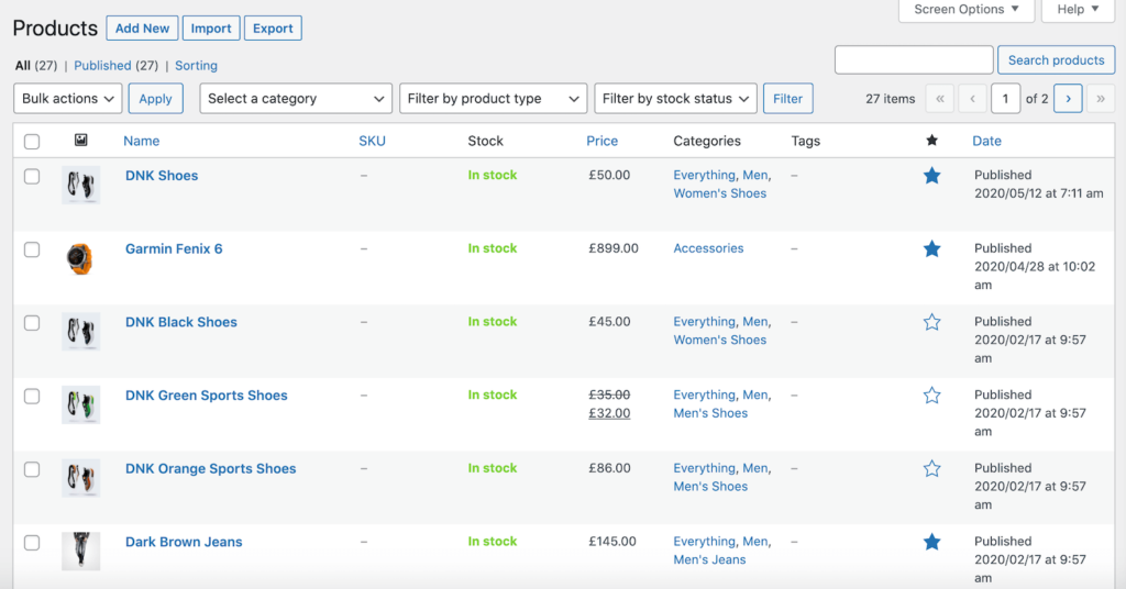 how to set a woocommerce featured product